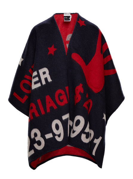 2 Moncler 1952 Graphic Poncho