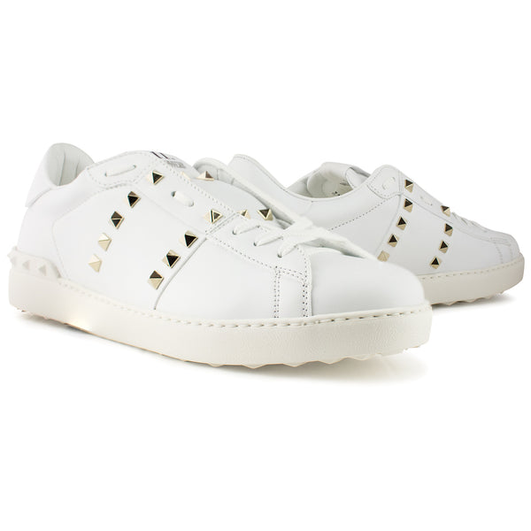 Valentino Rockstud Untitled Sneaker White - The Business Fashion - 2
