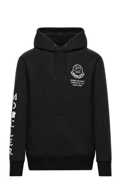 2 Moncler 1952 Undefeated Black Logo Hoodie