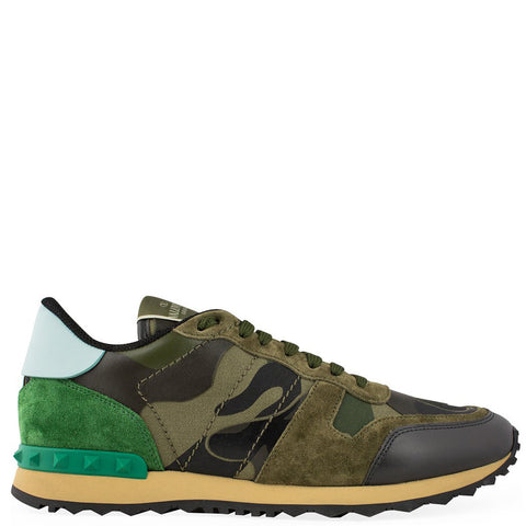 Valentino Rockrunner Sneaker Army Green - The Business Fashion - 1