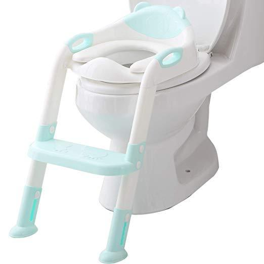 Potty Toilet Seat with Step Stool Ladder for All Stages Kids