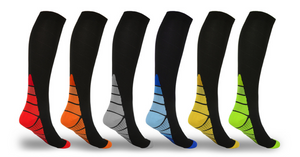 Unisex Sports Compression Socks (6 Pack) Best Medical, Running, Nursing, Hiking, Recovery & Flight Socks
