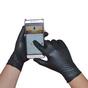 Black Disposable Latex Gloves