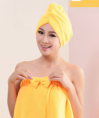 Hair-drying Towel Double Side Coral Fleece Dry Hair Hat