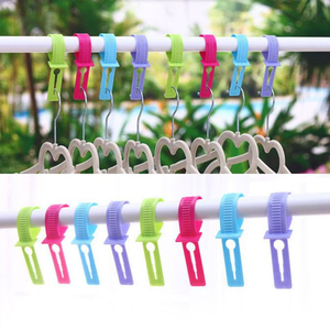 Multi-function Windproof Plastic Hook Strap Lock - 20PCS