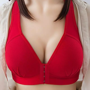 Plus Size Front Closure Push Up Bra