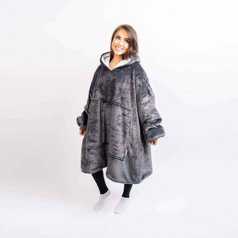 Cozy Oversized Sherpa Blanket Sweatshirt