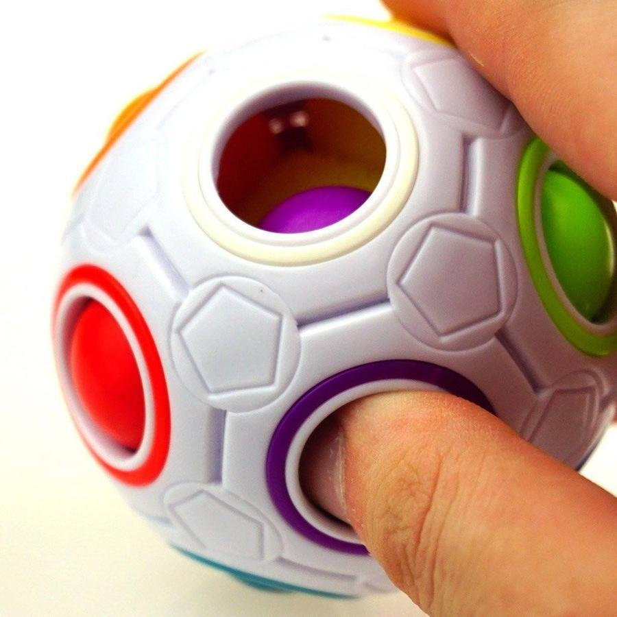 Magic Rainbow Ball Press Football Cube