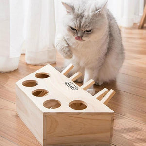 Wooden Cat Whack a Mole Toy