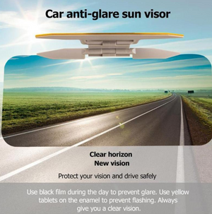 2-in-1 Car Sunshade Mirror