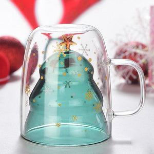 Christmas Tree Double Layer Glass