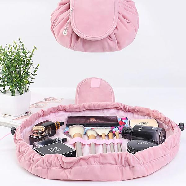Drawstring Velvet Cosmetic Bag