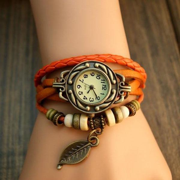 Leaf Vintage Wrap Watch