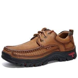 Men Casual Outdoor Lace-up Leather Oxfords