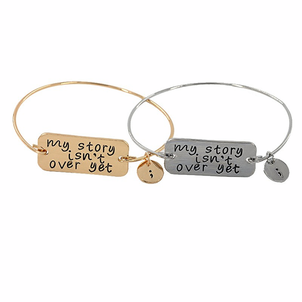 Semicolon Bangle - Florence Scovel - 2