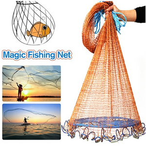 Fly Cast Mesh Hand Throw Fishing Net