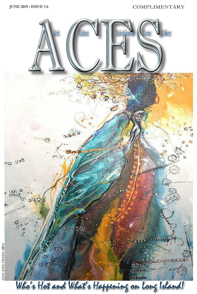 """Blue Lady"" on the cover of ""Aces"" Magazine"