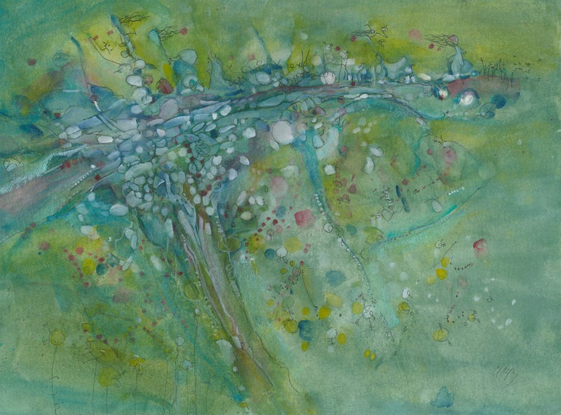 On Top Of The World_ 22x30 by Christine Alfery