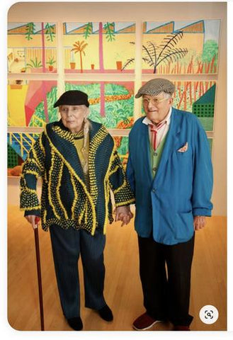 Picture of David Hockney and Joni Mitchell