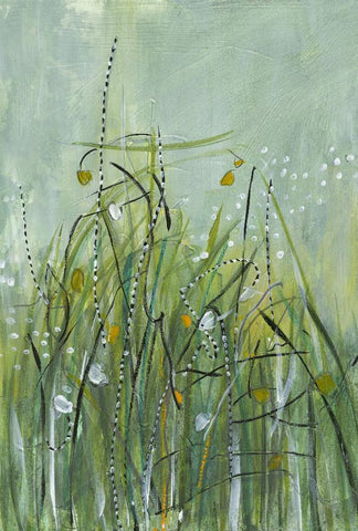 Water media painting, Tall Grasses by Christine Alfery