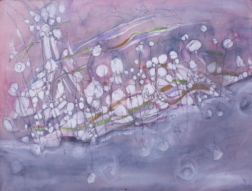 Water media painting, Along the Shore II by Christine Alfery