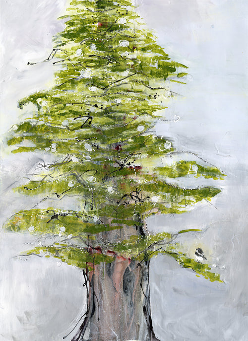 Water media painting Big Pine by Christine Aflery