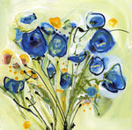 Water media painting, Bouquet of Sweetpeas by Christine Aflery