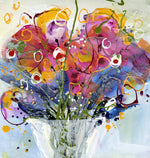 Water media painting, Bouquet of Happiness  by Christine Alfery