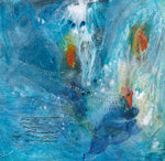 Water media painting, Coy in the Pond by Christine Alfery