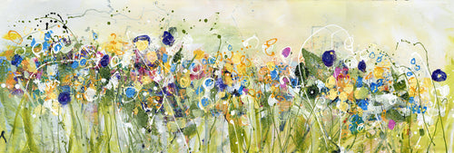 Water media painting, Field of Wild Flowers by Christine Alfery