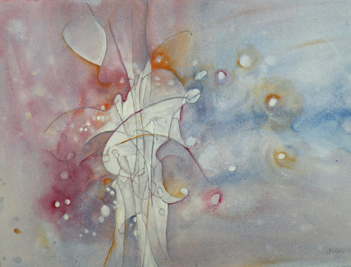 Water media painting, Flame II  by Christine Alfery