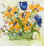 Water media painting Flowers In A Pot  by Christine Aflery