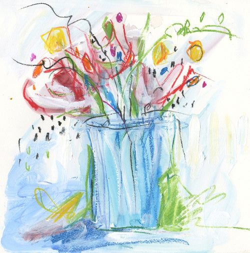 Watermedia painting, Flowers Just For Her by Christine Alfery