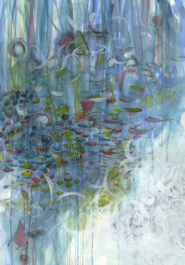 Water media painting, Incoming Tide by Christine Alfery