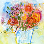 Water media painting, Just Because You Are Wonderful by Christine Alfery