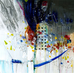 Water media painting, Listen to the Music by Christine Alfery