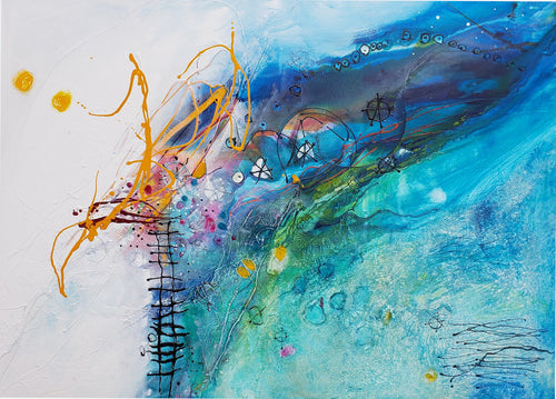 Water media painting, Out on a Limb by Christine Alfery