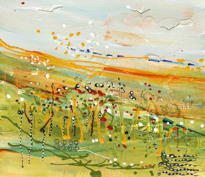 Water media painting,  Planting Seeds by Christine Alfery