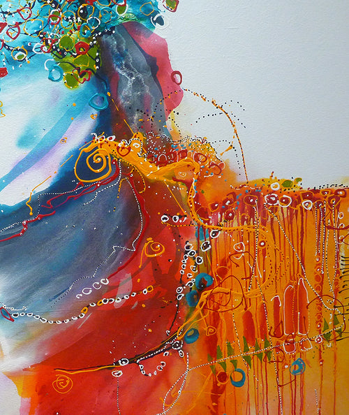 Water media painting, Queen of Illusions by Christine Alfery