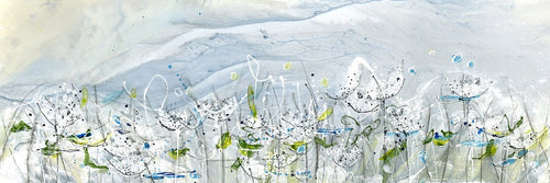Water media painting, Queen Anne's Lace II  by Christine Alfery