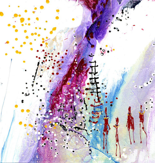 Water media on paper, Reaching for the Stars II by Christine Alfery