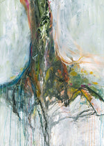 Water media painting, Roots II by Christine Alfery
