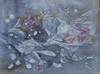 Water media painting, Roses by Christine Alfery
