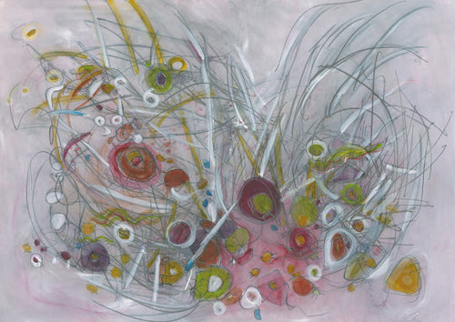 Water media painting, Spring's First Burst by Christine Alfery
