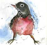 Water media painting, Springtime Robin  by Christine Alfery