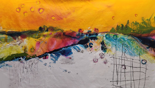 Water media painting, Stopping Time by Christine Alfery