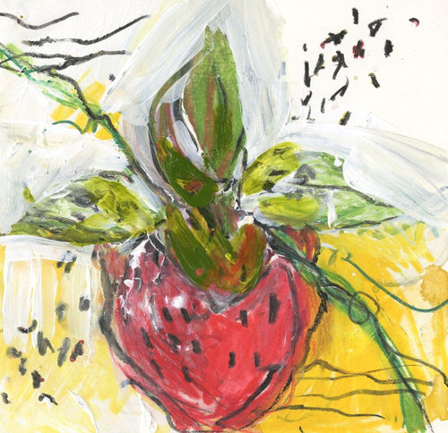 Watermedia painting, Strawberry by Christine Alfery