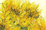 Water media painting, Sunflowers II by Christine Alfery