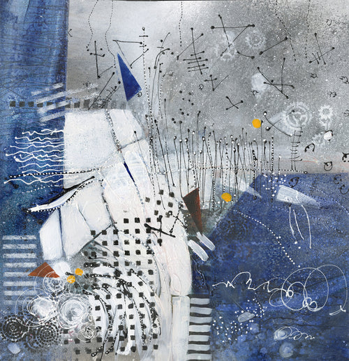 Water media painting, The Pull of Gravity by Christine Alfery