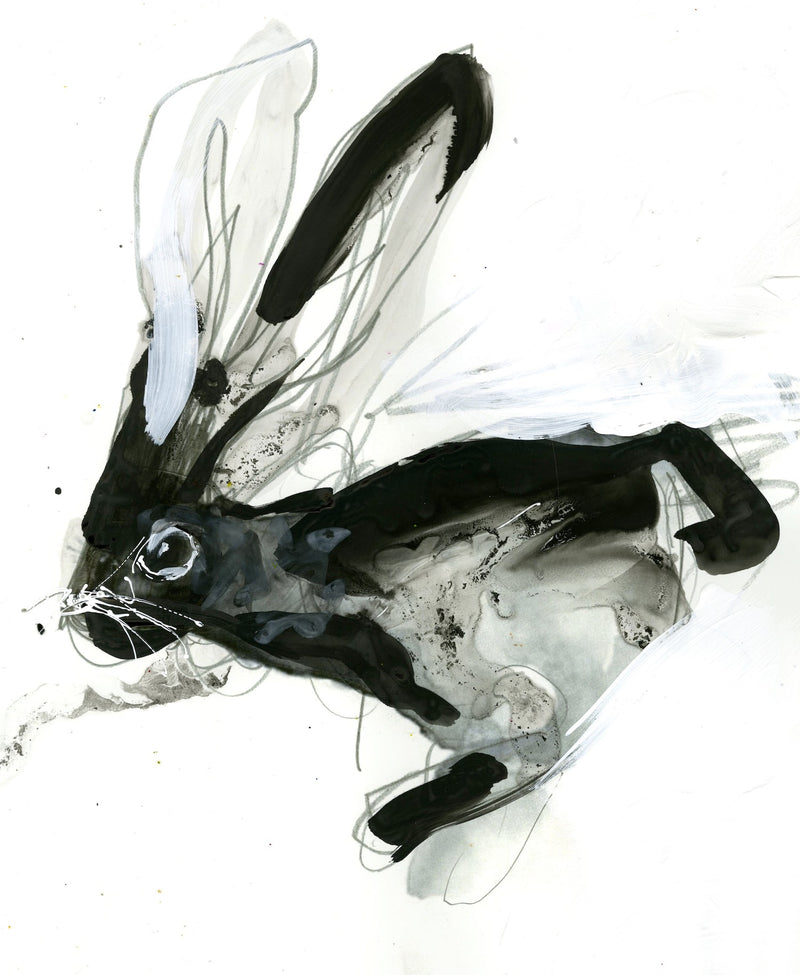 Water media painting, Thumper Kline by Christine Alfery